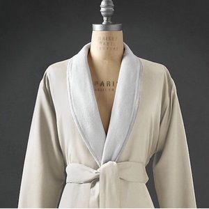 Restoration Hardware Sateen Terry Lined Spa Robe
